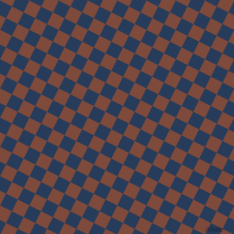 63/153 degree angle diagonal checkered chequered squares checker pattern checkers background, 26 pixel squares size, , Catalina Blue and Nutmeg checkers chequered checkered squares seamless tileable