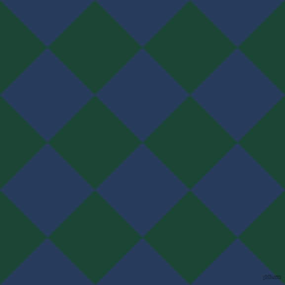 45/135 degree angle diagonal checkered chequered squares checker pattern checkers background, 136 pixel squares size, , Catalina Blue and Sherwood Green checkers chequered checkered squares seamless tileable