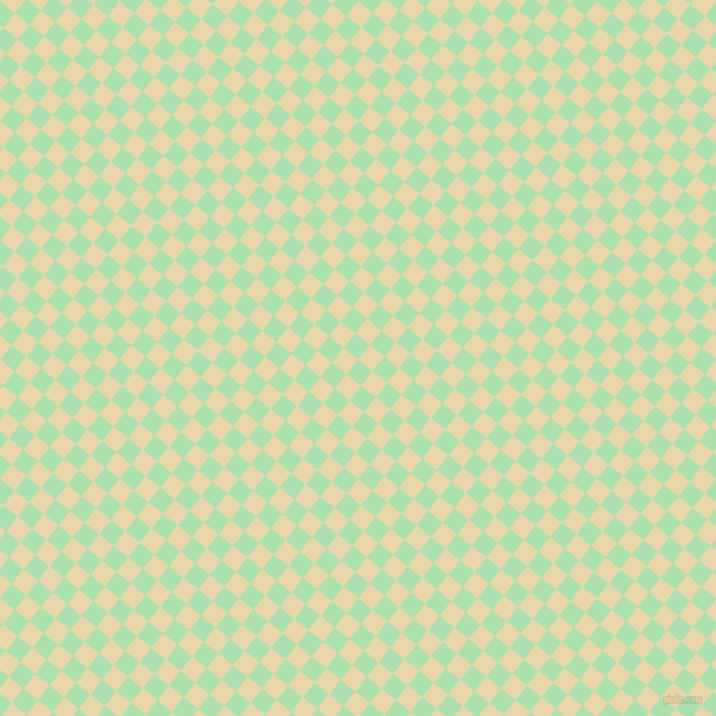 51/141 degree angle diagonal checkered chequered squares checker pattern checkers background, 17 pixel square size, , Celadon and Beeswax checkers chequered checkered squares seamless tileable