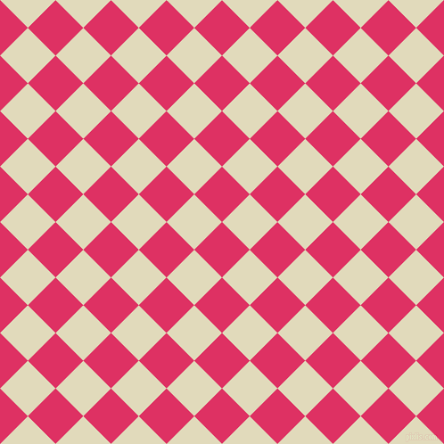 45/135 degree angle diagonal checkered chequered squares checker pattern checkers background, 44 pixel squares size, , Cerise and Coconut Cream checkers chequered checkered squares seamless tileable