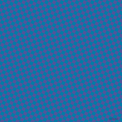63/153 degree angle diagonal checkered chequered squares checker pattern checkers background, 14 pixel square size, , Cerulean and Governor Bay checkers chequered checkered squares seamless tileable