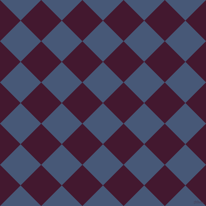 45/135 degree angle diagonal checkered chequered squares checker pattern checkers background, 98 pixel squares size, , Chambray and Blackberry checkers chequered checkered squares seamless tileable