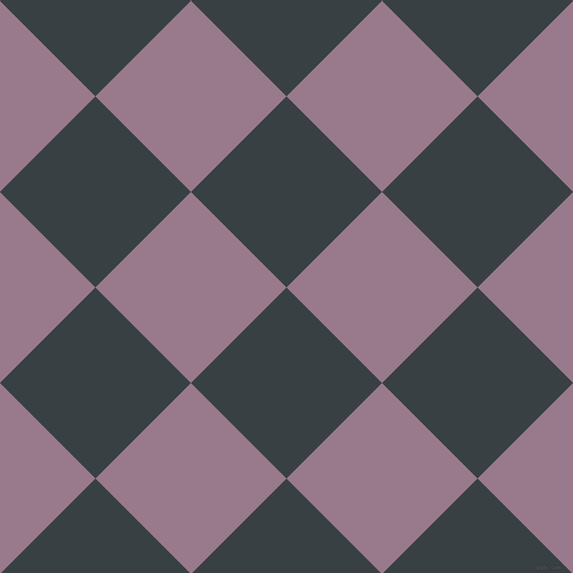 45/135 degree angle diagonal checkered chequered squares checker pattern checkers background, 195 pixel square size, , Charade and Mountbatten Pink checkers chequered checkered squares seamless tileable