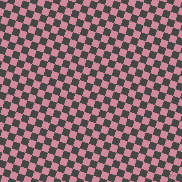 72/162 degree angle diagonal checkered chequered squares checker pattern checkers background, 24 pixel square size, , Charcoal and Can Can checkers chequered checkered squares seamless tileable