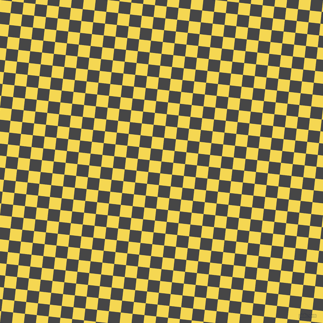84/174 degree angle diagonal checkered chequered squares checker pattern checkers background, 24 pixel square size, , Charcoal and Energy Yellow checkers chequered checkered squares seamless tileable