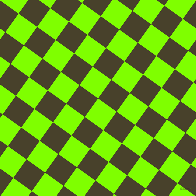 54/144 degree angle diagonal checkered chequered squares checker pattern checkers background, 77 pixel square size, Chartreuse and Onion checkers chequered checkered squares seamless tileable