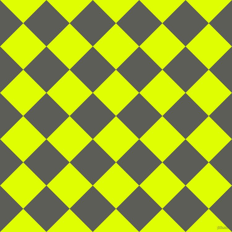45/135 degree angle diagonal checkered chequered squares checker pattern checkers background, 106 pixel square size, , Chartreuse Yellow and Chicago checkers chequered checkered squares seamless tileable