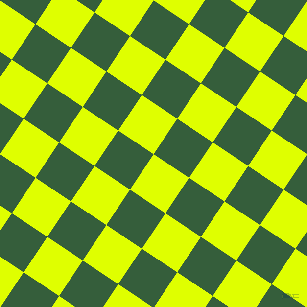 56/146 degree angle diagonal checkered chequered squares checker pattern checkers background, 87 pixel square size, , Chartreuse Yellow and Hunter Green checkers chequered checkered squares seamless tileable
