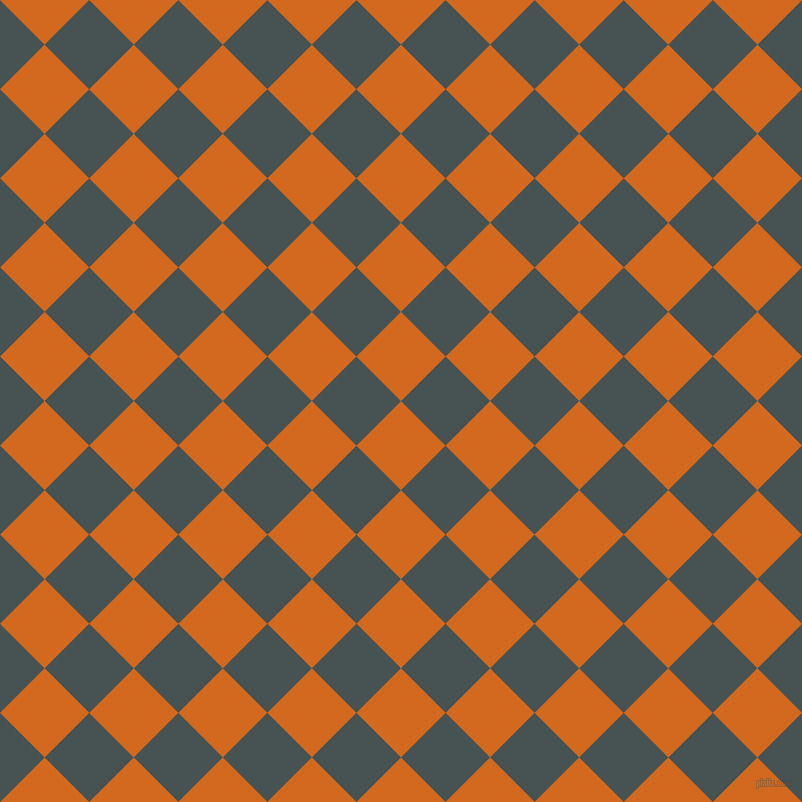 45/135 degree angle diagonal checkered chequered squares checker pattern checkers background, 63 pixel square size, Chocolate and Dark Slate checkers chequered checkered squares seamless tileable