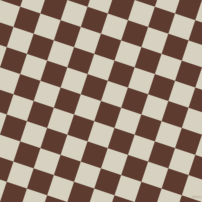 72/162 degree angle diagonal checkered chequered squares checker pattern checkers background, 82 pixel square size, Cioccolato and Ecru White checkers chequered checkered squares seamless tileable