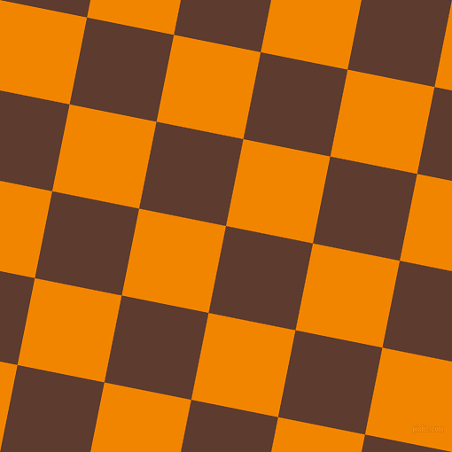79/169 degree angle diagonal checkered chequered squares checker pattern checkers background, 100 pixel squares size, , Cioccolato and Tangerine checkers chequered checkered squares seamless tileable