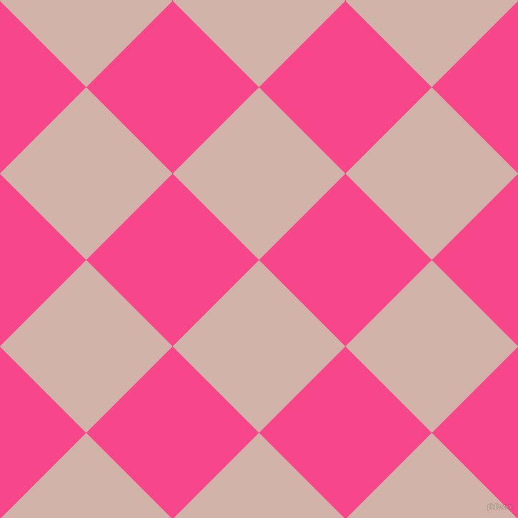 45/135 degree angle diagonal checkered chequered squares checker pattern checkers background, 171 pixel square size, , Clam Shell and Violet Red checkers chequered checkered squares seamless tileable