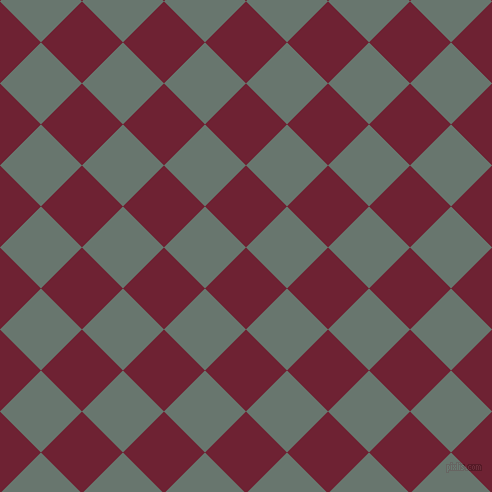 45/135 degree angle diagonal checkered chequered squares checker pattern checkers background, 58 pixel squares size, , Claret and Sirocco checkers chequered checkered squares seamless tileable