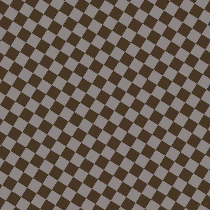 58/148 degree angle diagonal checkered chequered squares checker pattern checkers background, 38 pixel square size, , Clinker and Suva Grey checkers chequered checkered squares seamless tileable
