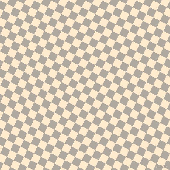 63/153 degree angle diagonal checkered chequered squares checker pattern checkers background, 25 pixel square size, , Cloudy and Blanched Almond checkers chequered checkered squares seamless tileable