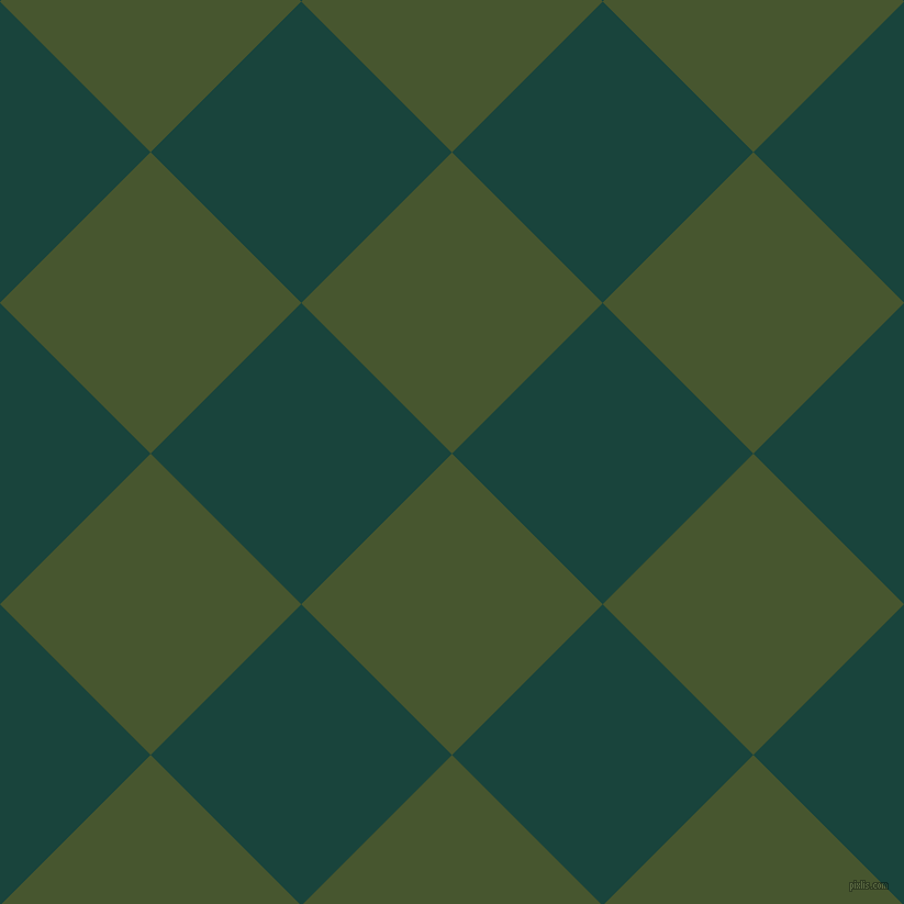 45/135 degree angle diagonal checkered chequered squares checker pattern checkers background, 194 pixel square size, , Clover and Deep Teal checkers chequered checkered squares seamless tileable