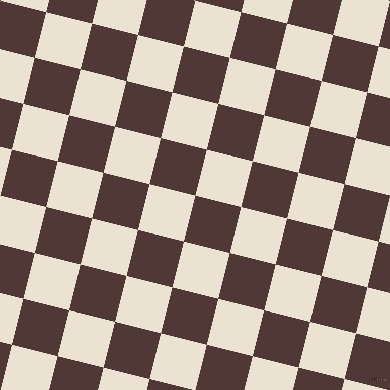 76/166 degree angle diagonal checkered chequered squares checker pattern checkers background, 94 pixel squares size, , Cocoa Bean and Quarter Spanish White checkers chequered checkered squares seamless tileable