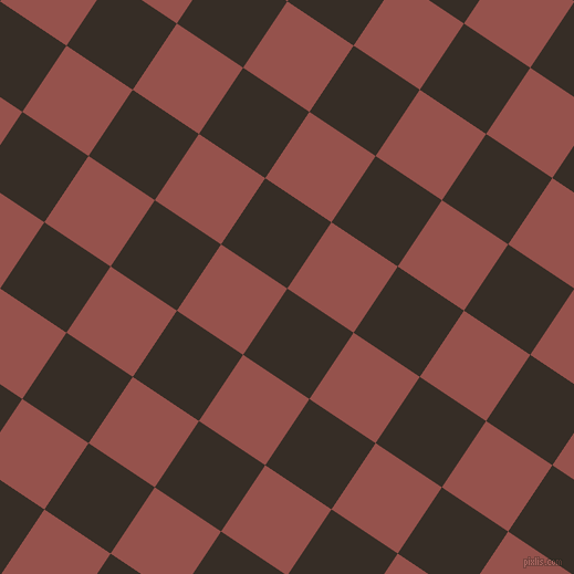 56/146 degree angle diagonal checkered chequered squares checker pattern checkers background, 72 pixel square size, , Coffee Bean and Copper Rust checkers chequered checkered squares seamless tileable