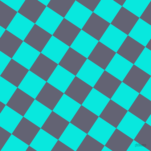 56/146 degree angle diagonal checkered chequered squares checker pattern checkers background, 68 pixel square size, , Comet and Bright Turquoise checkers chequered checkered squares seamless tileable