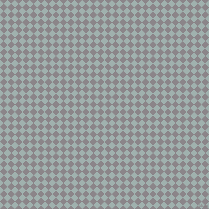 45/135 degree angle diagonal checkered chequered squares checker pattern checkers background, 20 pixel square size, , Conch and Taupe Grey checkers chequered checkered squares seamless tileable