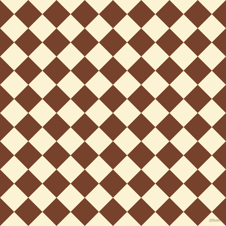 45/135 degree angle diagonal checkered chequered squares checker pattern checkers background, 66 pixel squares size, , Copper Canyon and China Ivory checkers chequered checkered squares seamless tileable