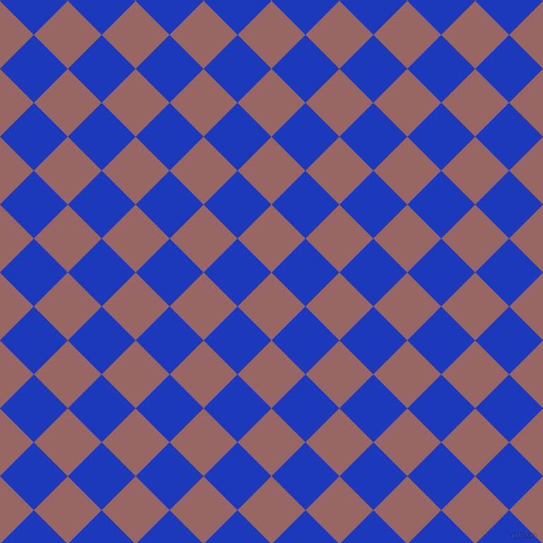 45/135 degree angle diagonal checkered chequered squares checker pattern checkers background, 68 pixel squares size, , Copper Rose and Persian Blue checkers chequered checkered squares seamless tileable
