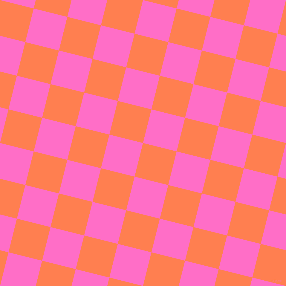 76/166 degree angle diagonal checkered chequered squares checker pattern checkers background, 116 pixel squares size, , Coral and Neon Pink checkers chequered checkered squares seamless tileable