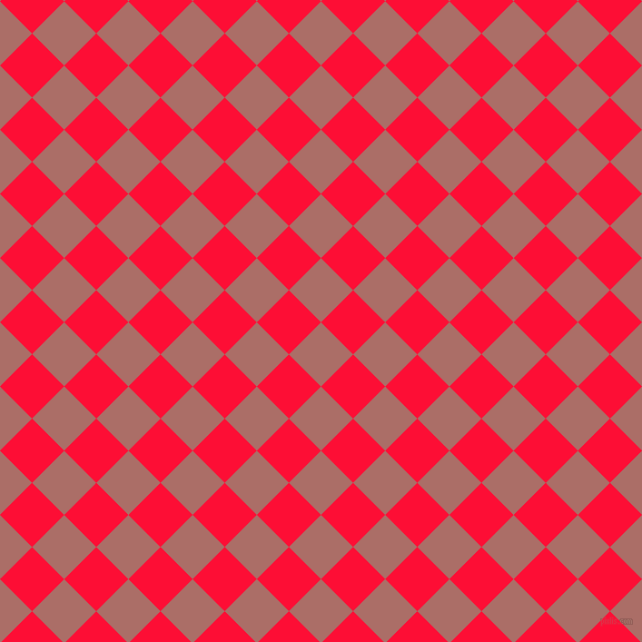 45/135 degree angle diagonal checkered chequered squares checker pattern checkers background, 50 pixel squares size, , Coral Tree and Torch Red checkers chequered checkered squares seamless tileable