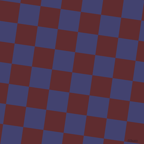 82/172 degree angle diagonal checkered chequered squares checker pattern checkers background, 71 pixel squares size, , Corn Flower Blue and Jazz checkers chequered checkered squares seamless tileable