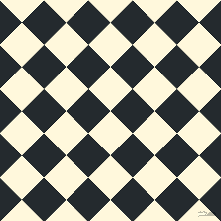 45/135 degree angle diagonal checkered chequered squares checker pattern checkers background, 63 pixel squares size, , Corn Silk and Cinder checkers chequered checkered squares seamless tileable
