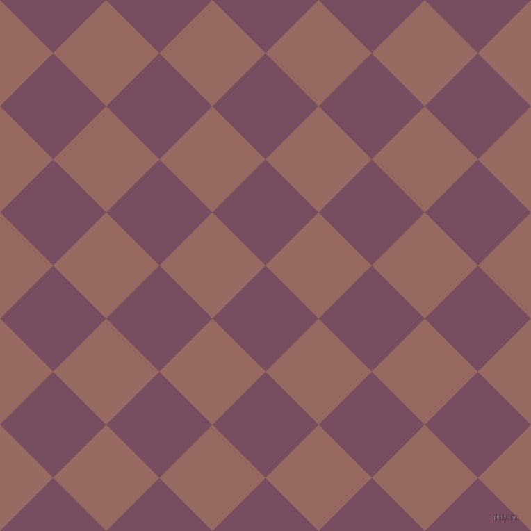 45/135 degree angle diagonal checkered chequered squares checker pattern checkers background, 108 pixel squares size, , Cosmic and Dark Chestnut checkers chequered checkered squares seamless tileable