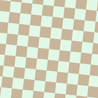 84/174 degree angle diagonal checkered chequered squares checker pattern checkers background, 46 pixel square size, , Cosmic Latte and Sour Dough checkers chequered checkered squares seamless tileable
