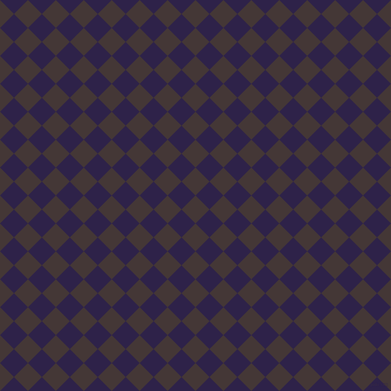 45/135 degree angle diagonal checkered chequered squares checker pattern checkers background, 40 pixel square size, , Cowboy and Violent Violet checkers chequered checkered squares seamless tileable
