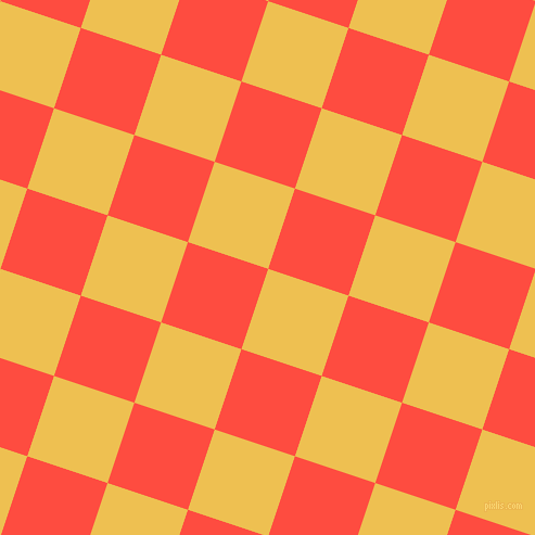 72/162 degree angle diagonal checkered chequered squares checker pattern checkers background, 78 pixel squares size, , Cream Can and Sunset Orange checkers chequered checkered squares seamless tileable