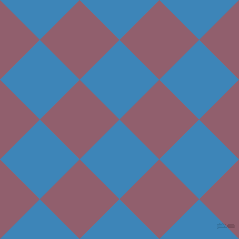 45/135 degree angle diagonal checkered chequered squares checker pattern checkers background, 115 pixel square size, , Curious Blue and Mauve Taupe checkers chequered checkered squares seamless tileable
