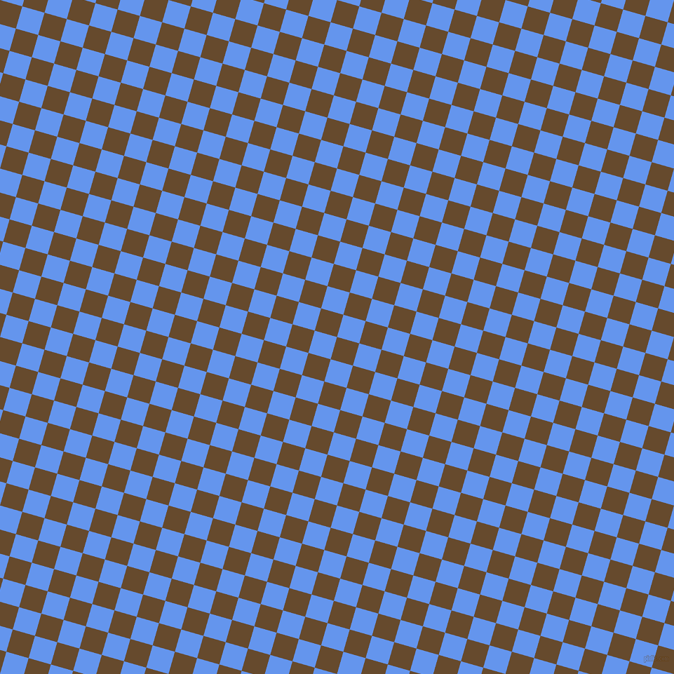 74/164 degree angle diagonal checkered chequered squares checker pattern checkers background, 33 pixel squares size, , Dallas and Cornflower Blue checkers chequered checkered squares seamless tileable