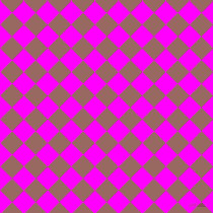 45/135 degree angle diagonal checkered chequered squares checker pattern checkers background, 33 pixel squares size, , Dark Chestnut and Magenta checkers chequered checkered squares seamless tileable