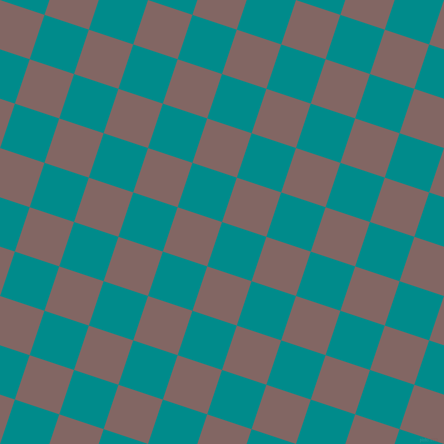 72/162 degree angle diagonal checkered chequered squares checker pattern checkers background, 92 pixel square size, , Dark Cyan and Pharlap checkers chequered checkered squares seamless tileable