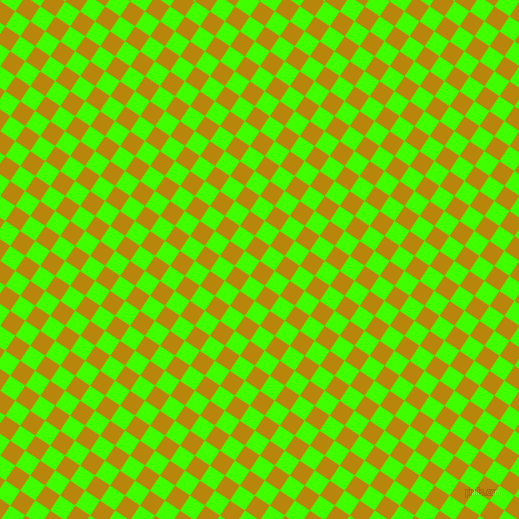 56/146 degree angle diagonal checkered chequered squares checker pattern checkers background, 18 pixel square size, , Dark Goldenrod and Harlequin checkers chequered checkered squares seamless tileable