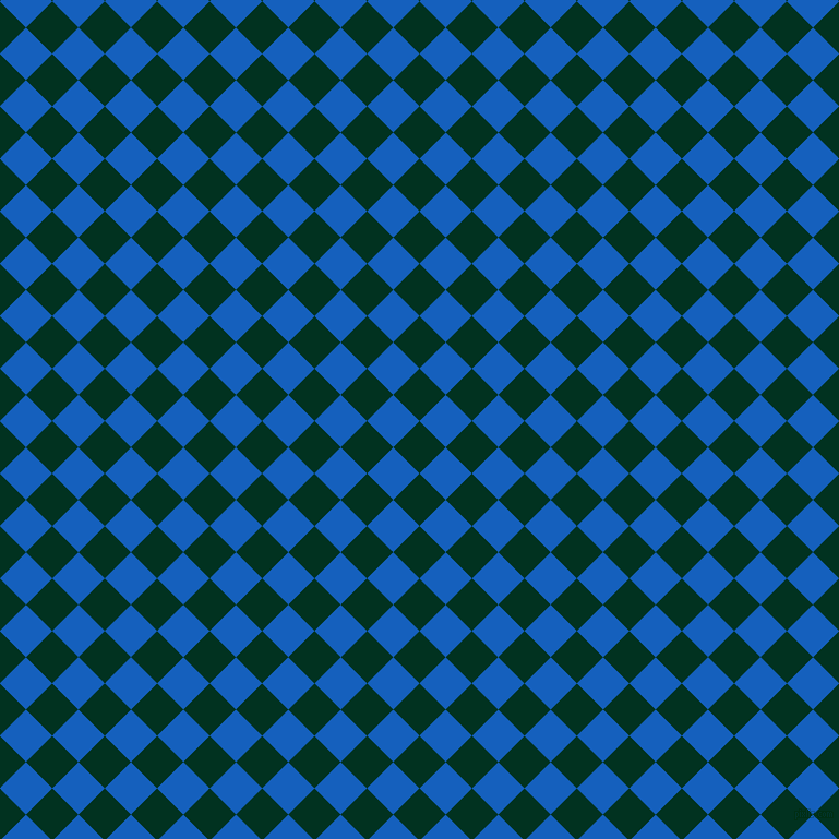 45/135 degree angle diagonal checkered chequered squares checker pattern checkers background, 34 pixel square size, , Dark Green and Denim checkers chequered checkered squares seamless tileable