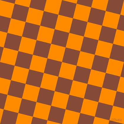 76/166 degree angle diagonal checkered chequered squares checker pattern checkers background, 51 pixel squares size, , Dark Orange and Paarl checkers chequered checkered squares seamless tileable