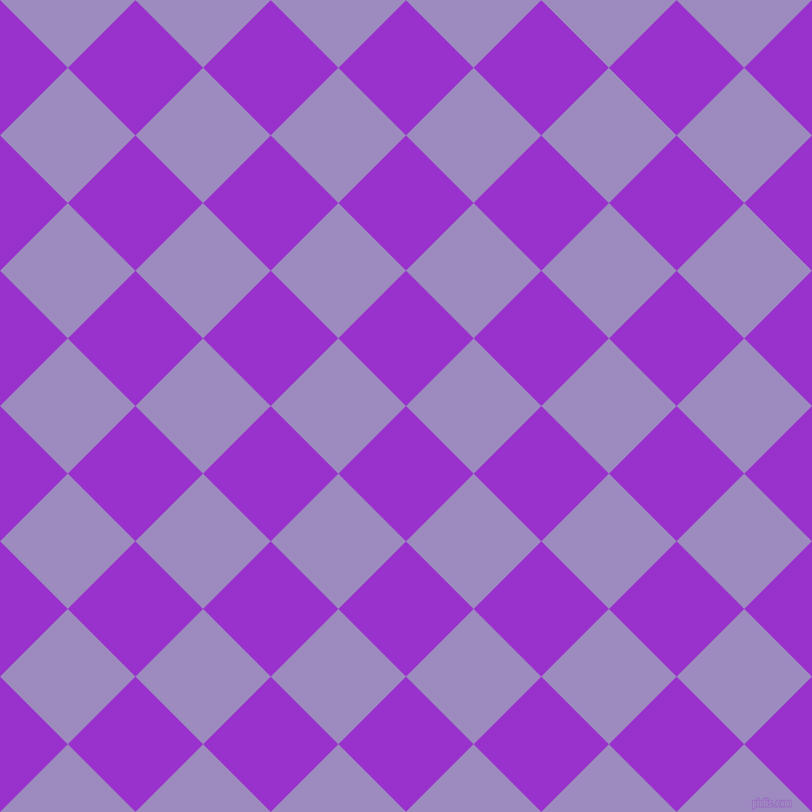 45/135 degree angle diagonal checkered chequered squares checker pattern checkers background, 86 pixel square size, , Dark Orchid and Cold Purple checkers chequered checkered squares seamless tileable