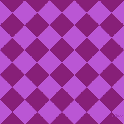 45/135 degree angle diagonal checkered chequered squares checker pattern checkers background, 59 pixel square size, , Dark Purple and Medium Orchid checkers chequered checkered squares seamless tileable