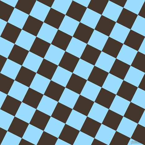 63/153 degree angle diagonal checkered chequered squares checker pattern checkers background, 52 pixel squares size, , Dark Rum and Columbia Blue checkers chequered checkered squares seamless tileable