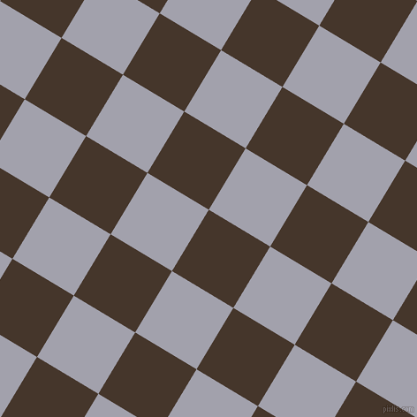 59/149 degree angle diagonal checkered chequered squares checker pattern checkers background, 81 pixel squares size, , Dark Rum and Spun Pearl checkers chequered checkered squares seamless tileable
