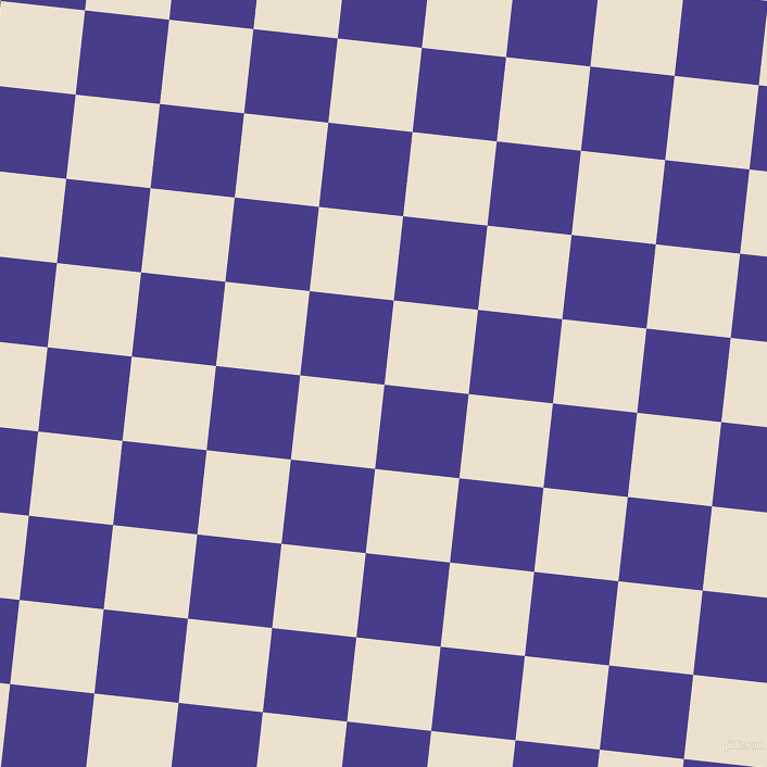 84/174 degree angle diagonal checkered chequered squares checker pattern checkers background, 78 pixel square size, , Dark Slate Blue and Bleach White checkers chequered checkered squares seamless tileable