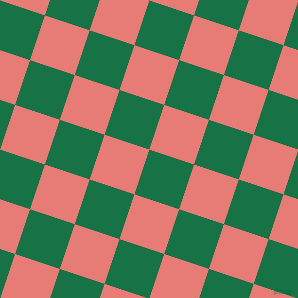 72/162 degree angle diagonal checkered chequered squares checker pattern checkers background, 97 pixel square size, , Dark Spring Green and Geraldine checkers chequered checkered squares seamless tileable