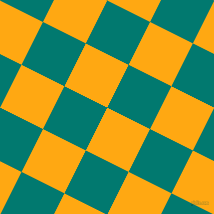 63/153 degree angle diagonal checkered chequered squares checker pattern checkers background, 96 pixel square size, , Dark Tangerine and Pine Green checkers chequered checkered squares seamless tileable