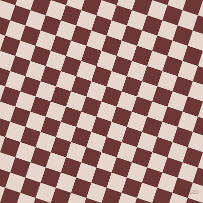 72/162 degree angle diagonal checkered chequered squares checker pattern checkers background, 32 pixel square size, , Dawn Pink and Sanguine Brown checkers chequered checkered squares seamless tileable