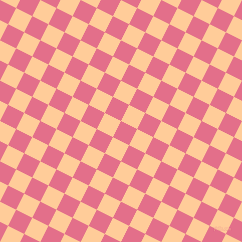 63/153 degree angle diagonal checkered chequered squares checker pattern checkers background, 36 pixel squares size, , Deep Blush and Peach-Orange checkers chequered checkered squares seamless tileable